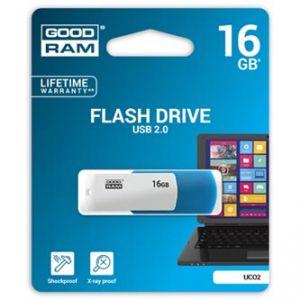 GOODRAM USB flash disk, 2.0, 16GB, Colour, color, UCO2-0160MXR11, podpora OS Win 7