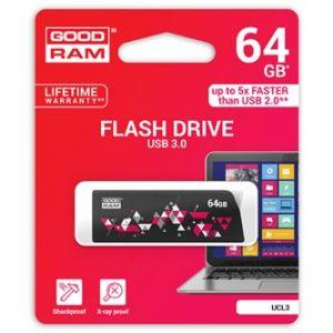 GOODRAM USB flash disk, 3.0, 64GB, UCL3, černý, podpora OS Win 7 a vyšší