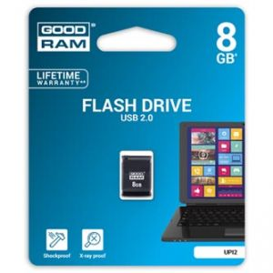 GOODRAM USB flash disk, 2.0, 8GB, UPI2, černý, podpora OS Win 7