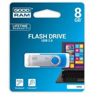 GOODRAM USB flash disk, 2.0, 8GB, UTS2, modrý, podpora OS Win 7