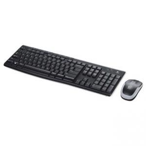LOGITECH Sada klávesnice MK270, AAA, multimediální, 2.4 [Ghz], černá, bezdrátová, CZ, s be