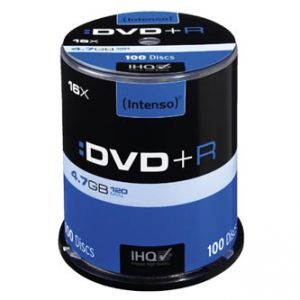 INTENSO DVD+R, 100-pack, 4.7GB, 16x, 12cm, Standard, cake box