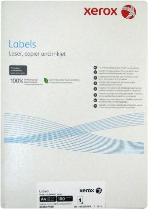 XEROX bílé samolepící štítky A4 100 listu