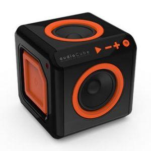 POWERCUBE reproduktor AudioCube 1.0 20W, ano, černooranžová 3.5mm konektor