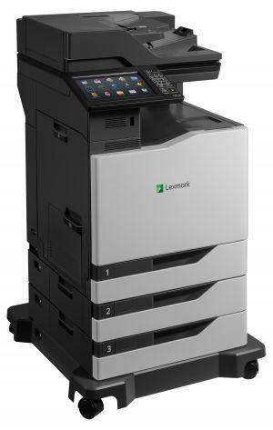 LEXMARK CX825dte color laser MFP, 52/52ppm, síť, duplex, dotykový LCD, DADF, fax, HDD + 2x