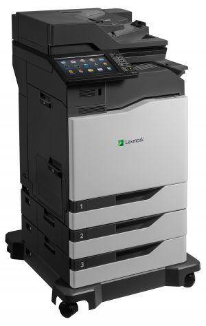 LEXMARK CX825dtfe color laser MFP, 52/52ppm, síť, duplex, dotykový LCD, DADF, fax, HDD + 2