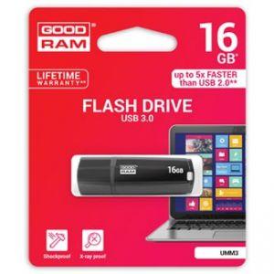GOODRAM USB flash disk, 2.0, 16GB, UMM3, černý, podpora OS Win 7