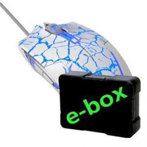 E-BLUE Myš Cobra, optická, 6tl., 1 kolečko, drátová (USB), bílo-modrá, 2500DPI, herní