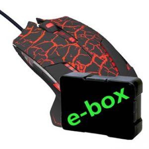 E-BLUE Myš Mazer Pro, optická, 6tl., 1 kolečko, drátová (USB), černo-červená, 2500DPI, her
