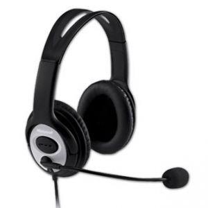 MICROSOFT, LifeChat LX-3000, herní sluchátka s mikrofonem, černá, USB konektor