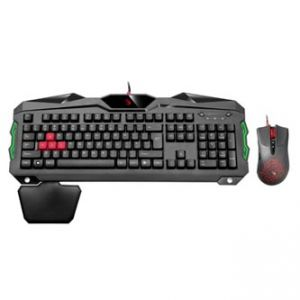 A4TECH Sada klávesnice BLOODY B2100, herní, černá, drátová (USB), CZ, s optickou myší, pod