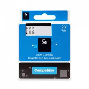 Kompatibilní páska s DYMO 40913 S0720680 9mm 7m cerný tisk/bílý podklad D1