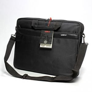 "LOGO Trendy taška na notebook, 15,6"", Barcelona, s popruhem na rameno, černá z polyesteru,"