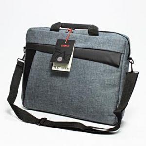 """LOGO Trendy taška na notebook, 15,6"""", New York, s popruhem na rameno, šedá z plátna, LOGO"""