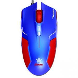 E-BLUE Myš Capitan America, optická, 6tl., 1 kolečko, drátová (USB), modrá, 1600DPI, herní