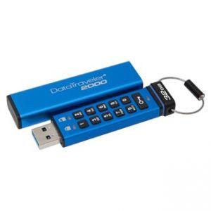 KINGSTON USB flash disk, 3.0, 32GB, Data Traveler 2000, modrý, DT2000/32GB