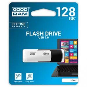 GOODRAM USB flash disk, 2.0, 128GB, UC02, black and white, UCO2-1280KWR11, podpora OS Win