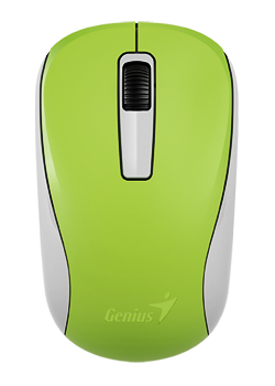 GENIUS Wireless myš NX-7005, USB, zelená, 1200dpi, BlueEye