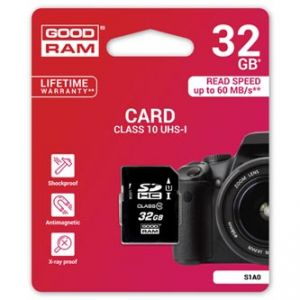GOODRAM Secure Digital Card, 32GB, SDHC, , UHS-I, pro archivaci dat
