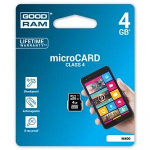 GOODRAM Micro Secure Digital Card, 4GB, micro SDHC, , Class 4, pro archivaci d