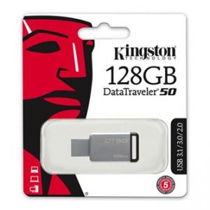 KINGSTON USB flash disk, 3.0, DataTraveler DT50, černý, DT50/128GB