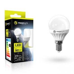 LED žárovka MOONLIGHT E14, 240V, 5W, 405lm, studená, 45mm/83mm