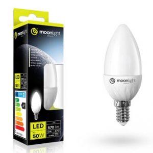 LED žárovka MOONLIGHT E14, 5W, 405lm, teplá, 37mm/100mm