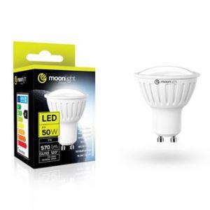 LED žárovka MOONLIGHT GU10, 7W, 570lm, teplá, 50mm/54mm