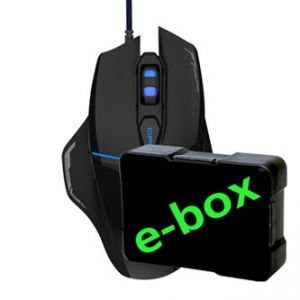 E-BLUE Myš Mazer V2, optická, 6tl., 1 kolečko, drátová (USB), černá, 2500DPI, herní, ano