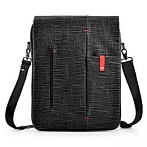 "Taška na notebook, 15,6"", černá z bavlny"