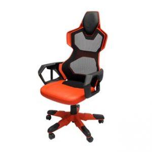 Herní židle E-BLUE COBRA AIR, červená, prodyšná záda - Pohodlené křeslo