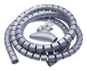 CONNECT IT trubice pro vedení kabelů WINDER, 2,5m x 20mm, šedá