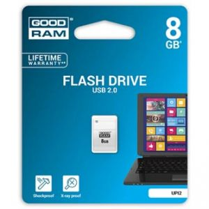 GOODRAM USB flash disk, 2.0, 8GB, UPI2, bílý, UPI2-0080W0R11
