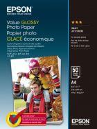 EPSON Value Glossy Photo Paper, foto papír, lesklý, bílý, A4, 200 g/m2, 50 ks, C13S400036,