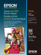 EPSON Value Glossy Photo Paper, foto papír, lesklý, bílý, 10x15cm, 183 g/m2, 50 ks, C13S40
