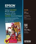 EPSON Value Glossy Photo Paper, foto papír, lesklý, bílý, 10x15cm, 183 g/m2, 100 ks, C13S4
