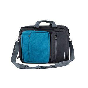 """MODECOM brašna RENO na notebooky do velikosti 15,6"""", kovové přezky, 5 kapes, funkce batohu"""