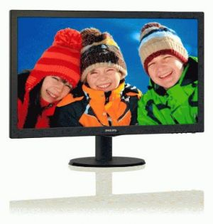 "PHILIPS LCD 243S5LSB5 23,6""wide/1920x1080/1ms/10mil:1/250cd/VGA/DVI/LED"
