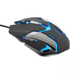 E-BLUE Myš Auroza Gaming, optická, 6tl., 1 kolečko, drátová (USB), černá, 4000DPI, herní