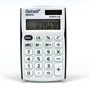 Kalkulačka REBELL RE-SHC312BK BX, bílo-černá, kapesní, dvanáctimístná