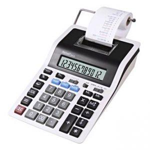 Kalkulačka REBELL RE-PDC20 WB, bílo-černá, stolní s tiskem, dvanáctimístná