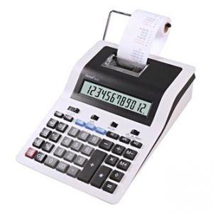 Kalkulačka REBELL RE-PDC30 WB, bílo-černá, stolní s tiskem, dvanáctimístná