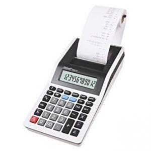 Kalkulačka REBELL RE-PDC10 WB, bílo-černá, stolní s tiskem, dvanáctimístná