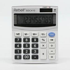 Kalkulačka REBELL RE-SDC410 BX, bílá, stolní, desetimístná