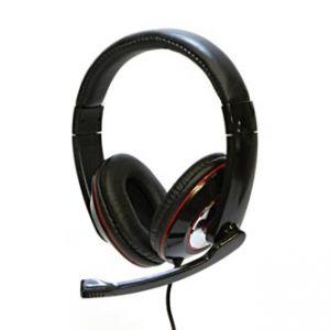 LOGO, Sluchátka HL-01, sluchátka s mikrofonem, ovládání hlasitosti, černá, USB