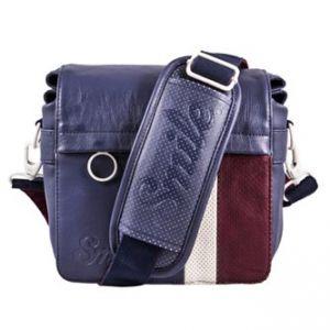 Taška na fotoaparát, eko kůže/polyester, modrá, Urban NOMAD Wind S, s popruhem, Smile