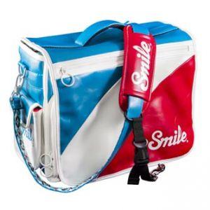 Taška na fotoaparát, eko kůže/nylon, barevná, Mod Style M, s popruhem, 2v1 oboustranná, Sm