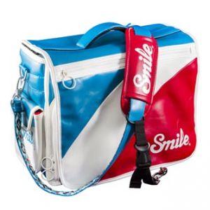 Taška na fotoaparát, eko kůže/nylon, barevná, Mod Style L, s popruhem, 2v1 oboustranná, Sm