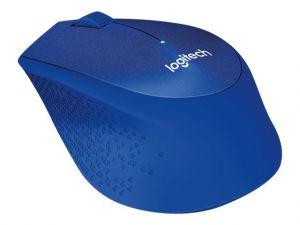 LOGITECH myš Wireless M330 Silent Plus, optická, bezdrátová, 3 tlačítka, modrá