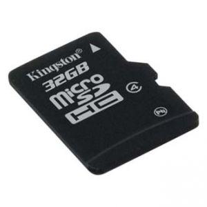 KINGSTON microSDHC Class 4 single pack, 32GB, micro SDHC, SDC4/32GBSP, pro archivaci dat